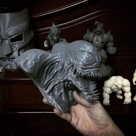 bstar3dprint 3d printer files venom bust marvel 3d print model