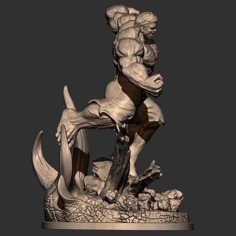 7.JPG Download STL file Hulk Angry - Super Hero - Marvel 3D print model • 3D print model, Bstar3Dart