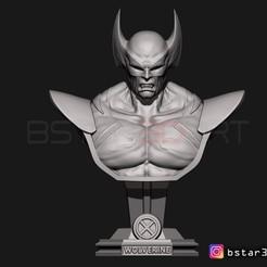 Download 3D print files Wolverine Bust - X men - from Marvel, Bstar3Dart