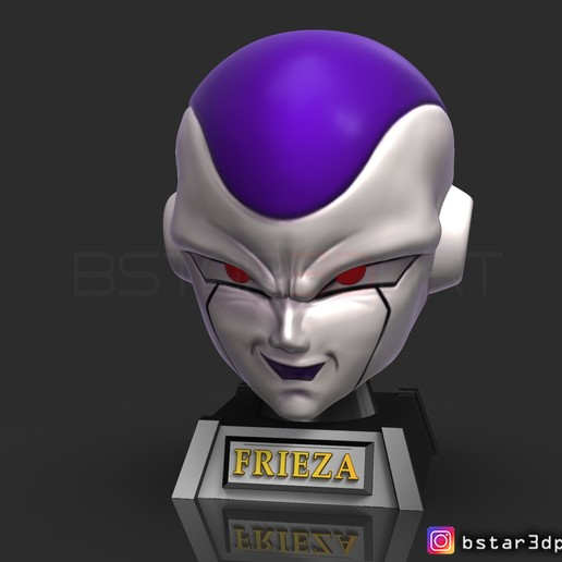 Descargar modelos 3D Máscara frieza - Frieza Head - Dragon ball cosplay/Decorador, Bstar3Dart