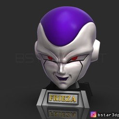 Descargar modelos 3D Máscara frieza - Frieza Head - Dragon ball cosplay/Decorador, Bstar3Dart
