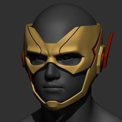 Download 3D printer model Flash Kid Helmet - DC comic 3D print model 3D print model, Bstar3Dart