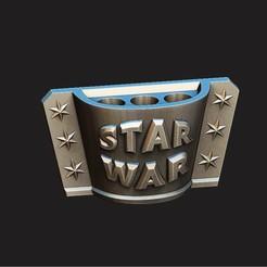 Download free 3D printer designs PENCIL HOLDER - STAR WARS  , Bstar3Dart