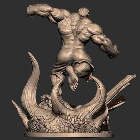 5.JPG Download STL file Hulk Angry - Super Hero - Marvel 3D print model • 3D print model, Bstar3Dart