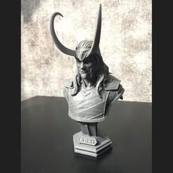 Download 3D printing models LOKI Bust With Helmet - Tom Hiddleston - - Marvel - Avenger 3D print model, Bstar3Dart