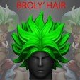 3D print files Broly Hair - Dragon ball - For Cosplay, Bstar3Dprint