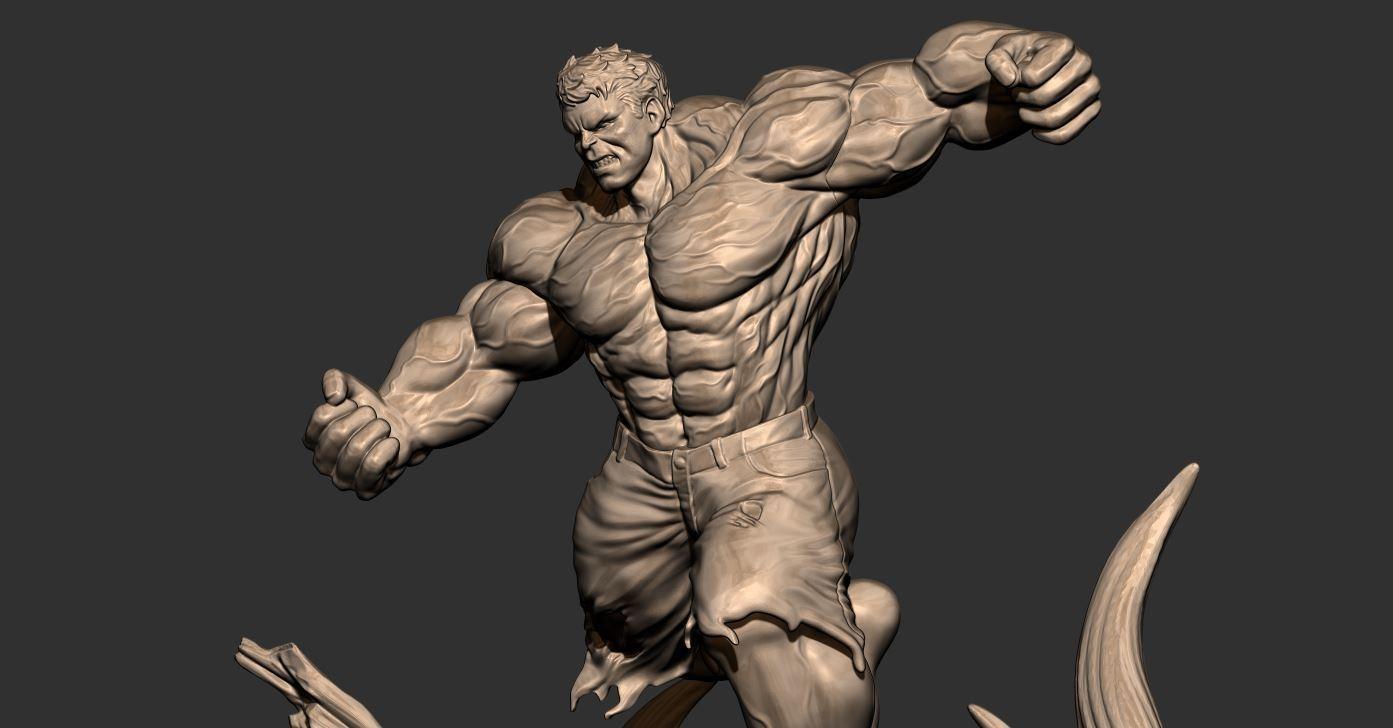 10.JPG Download STL file Hulk Angry - Super Hero - Marvel 3D print model • 3D print model, Bstar3Dart