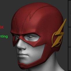 archivos 3d Casco Flash - Liga de la Justicia, blackstar90