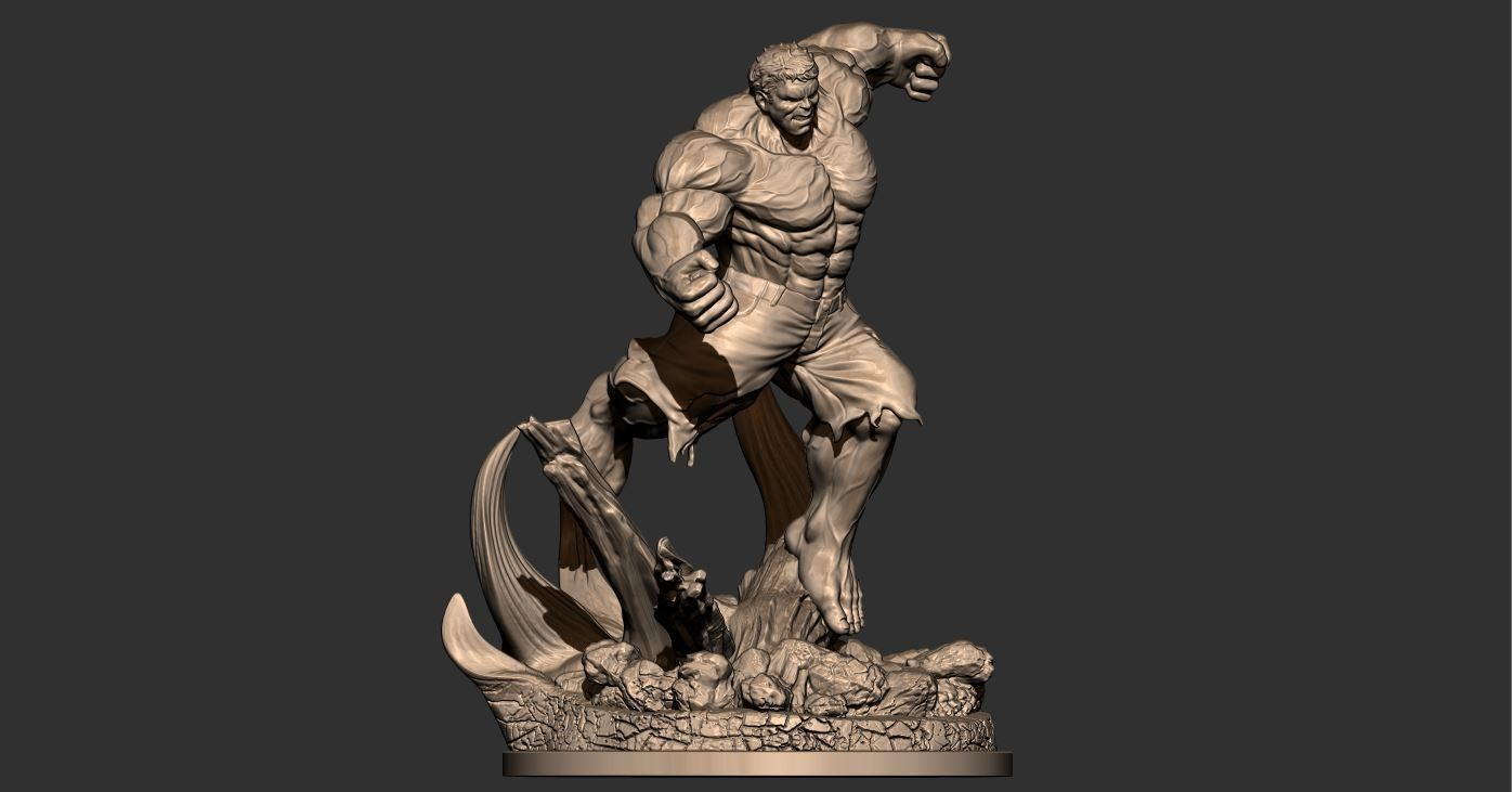 8.JPG Download STL file Hulk Angry - Super Hero - Marvel 3D print model • 3D print model, Bstar3Dart