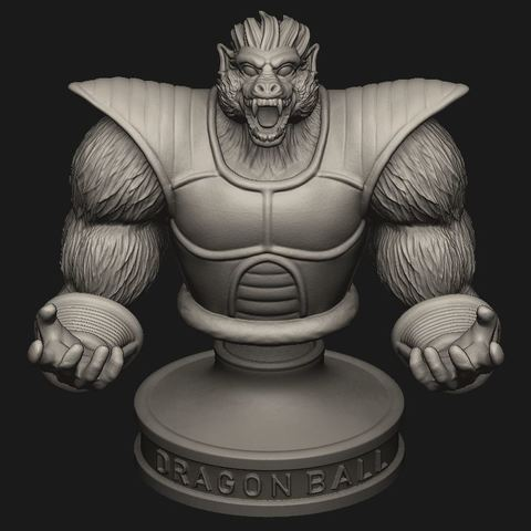 Download 3D printing models Oozaru Vegeta BUST - Dragon ball 3D print model, Bstar3Dart