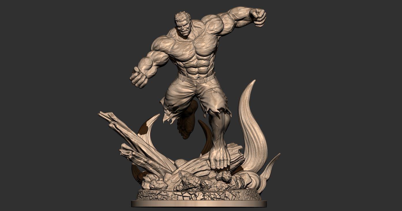 1.JPG Download STL file Hulk Angry - Super Hero - Marvel 3D print model • 3D print model, Bstar3Dart