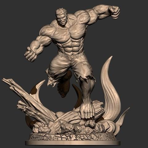 STL files Hulk Angry - Super Hero - Marvel 3D print model, Bstar3Dprint