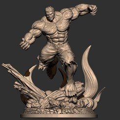 3d model Hulk Angry - Super Hero - Marvel 3D print model, Bstar3Dprint