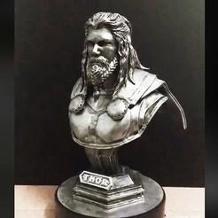 Download STL Thor Bust Avenger 4 bust - Infinity war - Endgame - Marvel 3D print model, Bstar3Dart