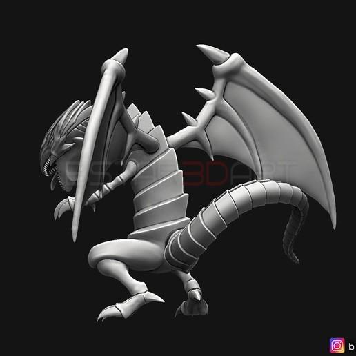 03.jpg Télécharger fichier STL yeux bleus dragon blanc - Yu Gi Oh • Modèle à imprimer en 3D, Bstar3Dart