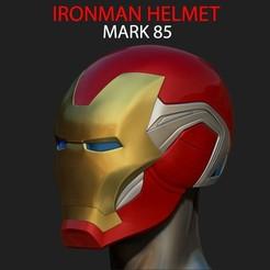 Download STL files IRONMAN HELMET - MARK 85 - FROM INFINITY WAR - ENDGAME - MARVEL, Bstar3Dart