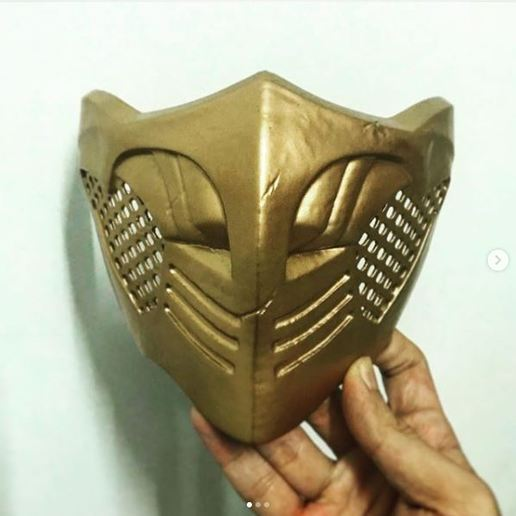 Download 3d Printer Designs Mortal Kombat X Scorpion S Mask For Cosplay Cults