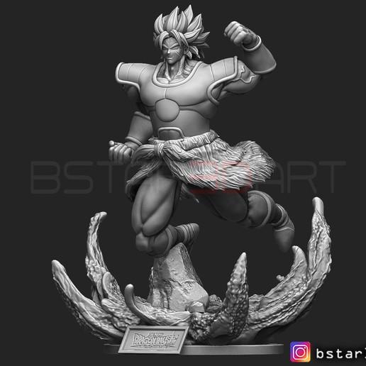 Descargar STL Broly super Saiyan versión 02 de la película Broly 2019, Bstar3Dart