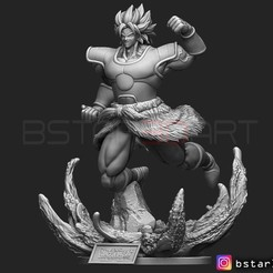 Download 3D printer model Broly super Saiyan version 02 from Broly movie 2019, Bstar3Dart