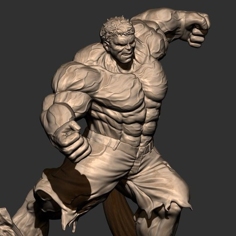 12.JPG Download STL file Hulk Angry - Super Hero - Marvel 3D print model • 3D print model, Bstar3Dart