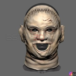 Download STL files LEATHERFACE 1974 KILLING MASK - THE TEXAS CHAINSAW MASSACRE  scale 1:1 For cosplay, Bstar3Dart
