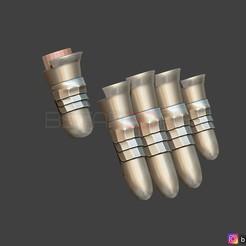 47.jpg Download STL file Cloud Finger Armor - Final Fantasy VII remake PS4 For cosplay 3D print model • 3D print object, Bstar3Dart