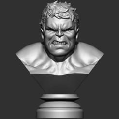 Download 3D printing designs Hulk Angry bust, Bstar3Dart