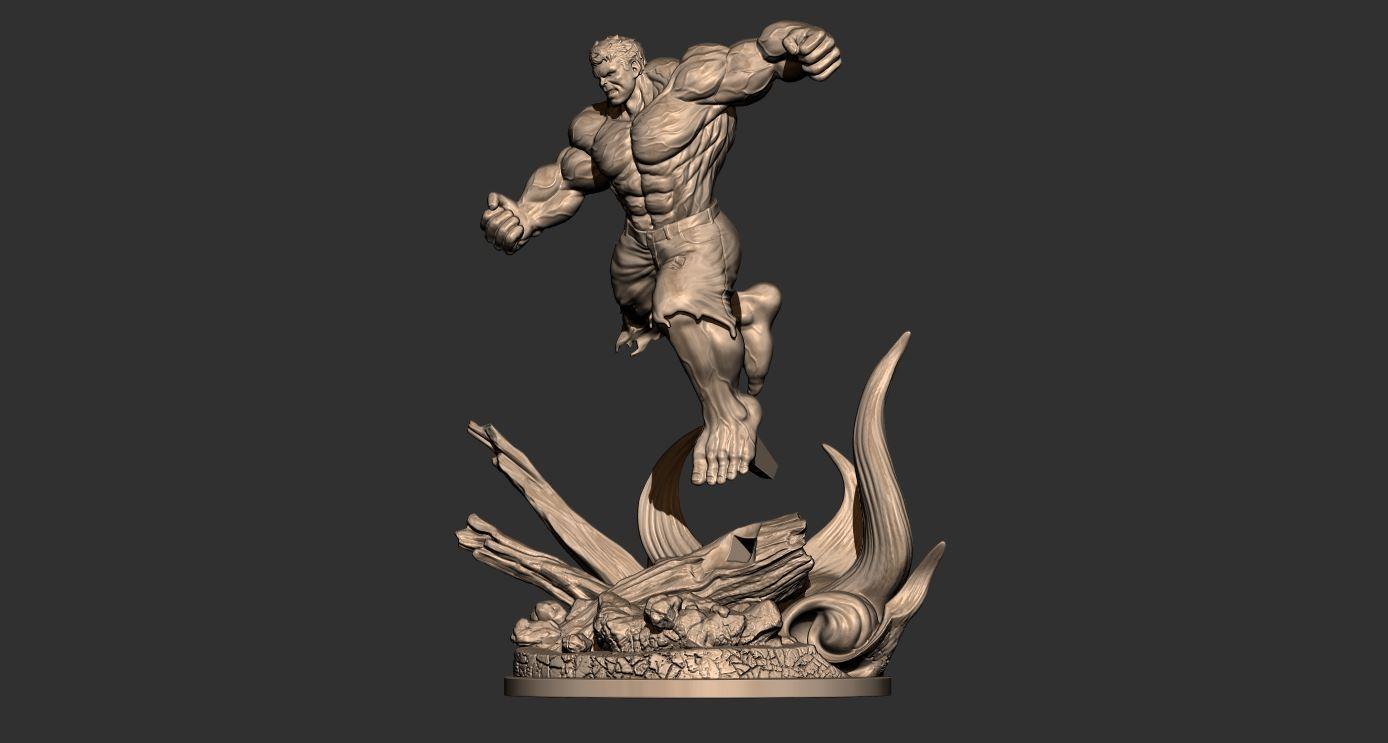 19.JPG Download STL file Hulk Angry - Super Hero - Marvel 3D print model • 3D print model, Bstar3Dart