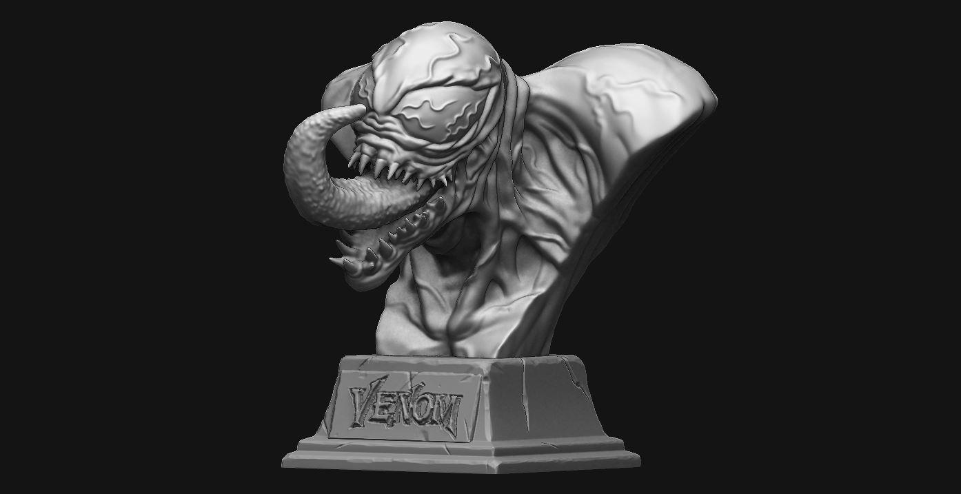 1.JPG Download STL file Venom Bust - Marvel 3D print model • 3D printable design, Bstar3Dart