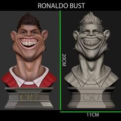 Download STL files Ronaldo Bust, Bstar3Dart