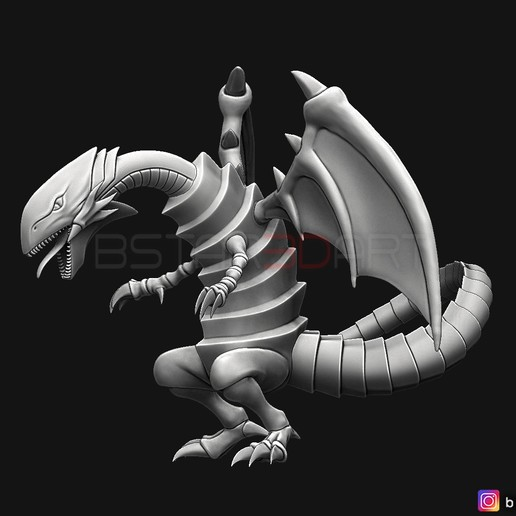 02.jpg Télécharger fichier STL yeux bleus dragon blanc - Yu Gi Oh • Modèle à imprimer en 3D, Bstar3Dart