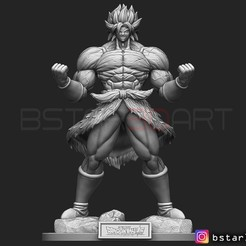 Download 3D printer templates Broly Super Saiyan version 01 from Broly movie 2019, Bstar3Dart