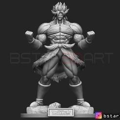 Télécharger fichier STL Broly Super Saiyan version 01 du film Broly 2019, Bstar3Dart