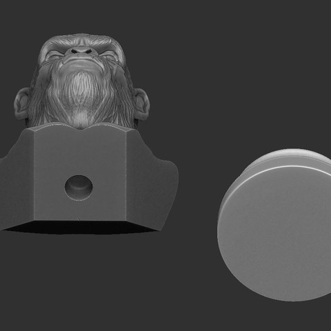 11.JPG Download OBJ file Koba Monkey • 3D print model, Bstar3Dart