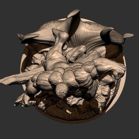 16.JPG Download STL file Hulk Angry - Super Hero - Marvel 3D print model • 3D print model, Bstar3Dart