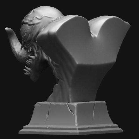 3.JPG Download STL file Venom Bust - Marvel 3D print model • 3D printable design, Bstar3Dart