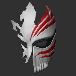 3d print files Half Hollow Mask - Kurosaki Ichigo - Bleach 3D print model, blackstar90
