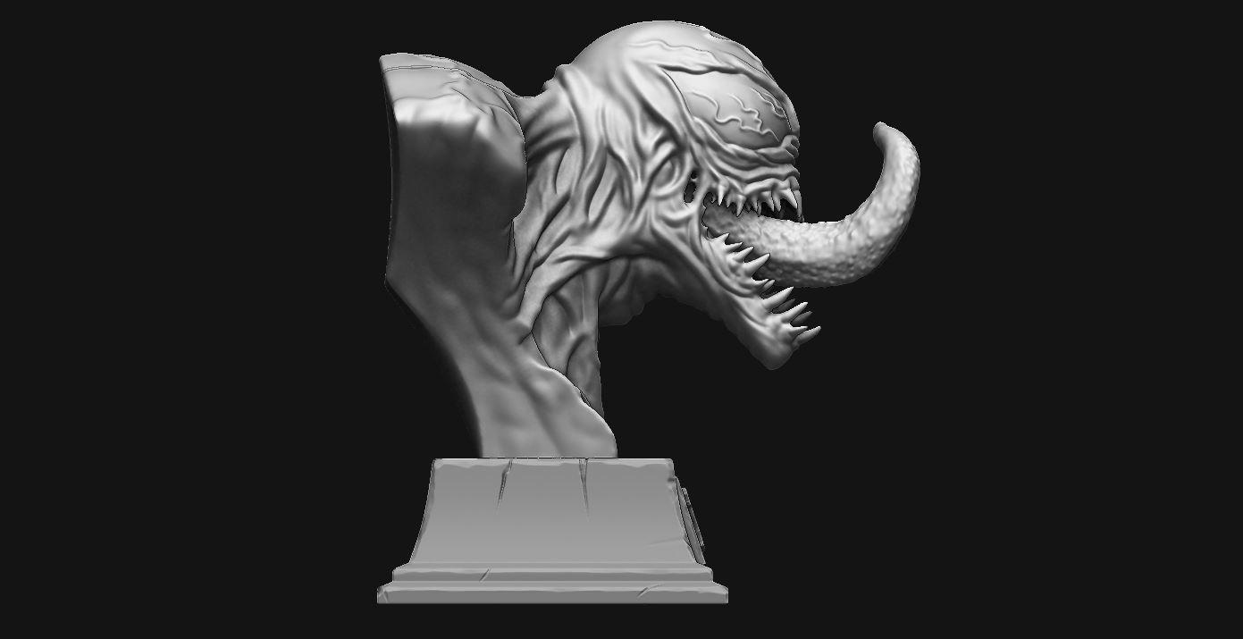 5.JPG Download STL file Venom Bust - Marvel 3D print model • 3D printable design, Bstar3Dart