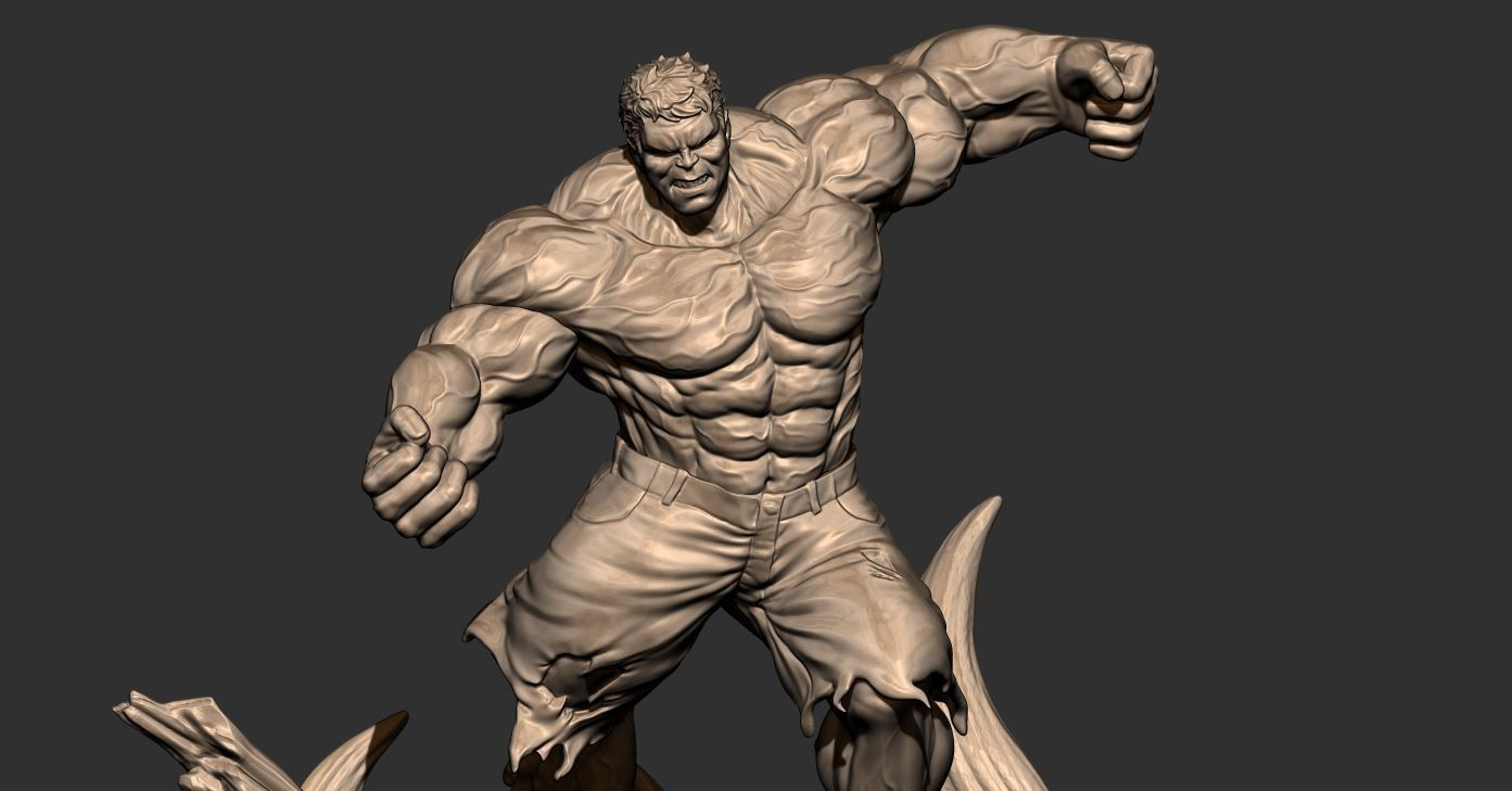 9.JPG Download STL file Hulk Angry - Super Hero - Marvel 3D print model • 3D print model, Bstar3Dart
