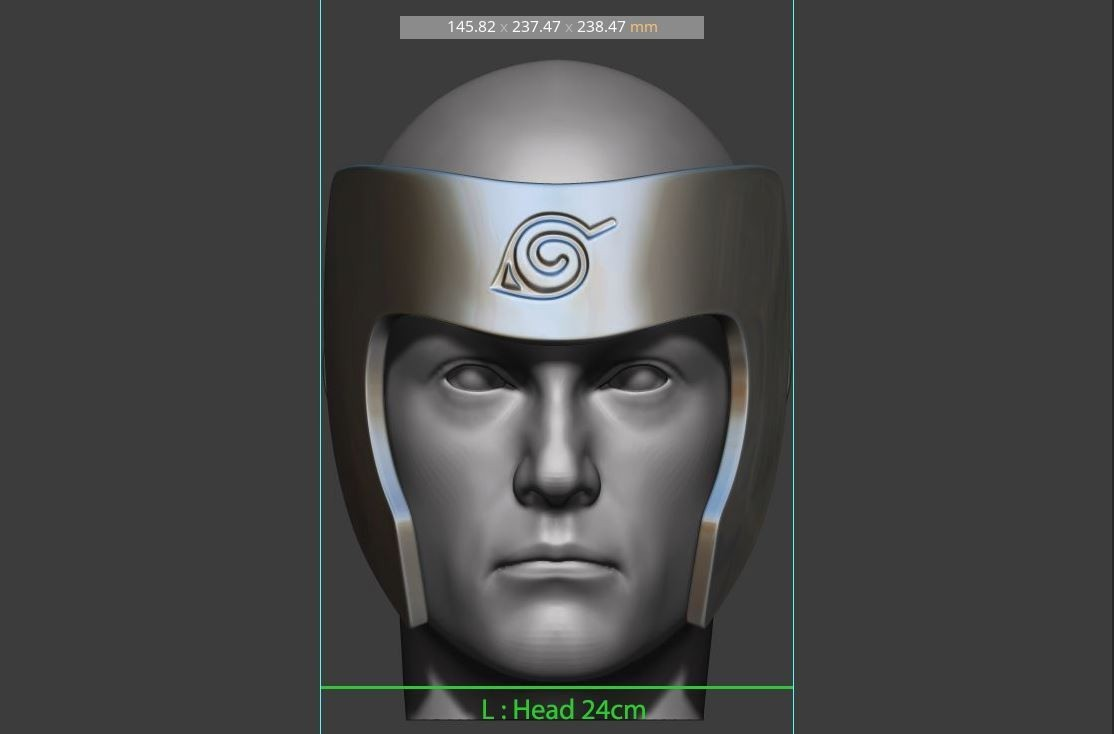 16.JPG Download STL file Tobirama Senju Mask - Second Hokage - Naruto Cosplay 3D print model • Template to 3D print, Bstar3Dart