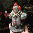 Télécharger STL Pennywise Bust Haute qualité - IT chapter Two - Halloween 3D print, Bstar3Dart