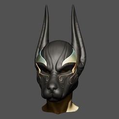 Imprimir en 3D Casco Anubis para Cosplay, Bstar3Dprint