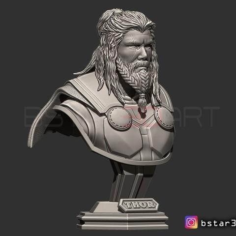 3D print model Thor Bust Avenger 4 bust - Infinity war - Endgame - Marvel 3D print model, Bstar3Dprint