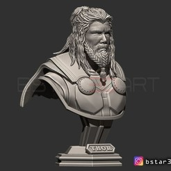 Plan imprimante 3D Buste Thor Buste Avenger 4 buste - Infinity war - Fin de partie - Maquette 3D Marvel, Bstar3Dprint