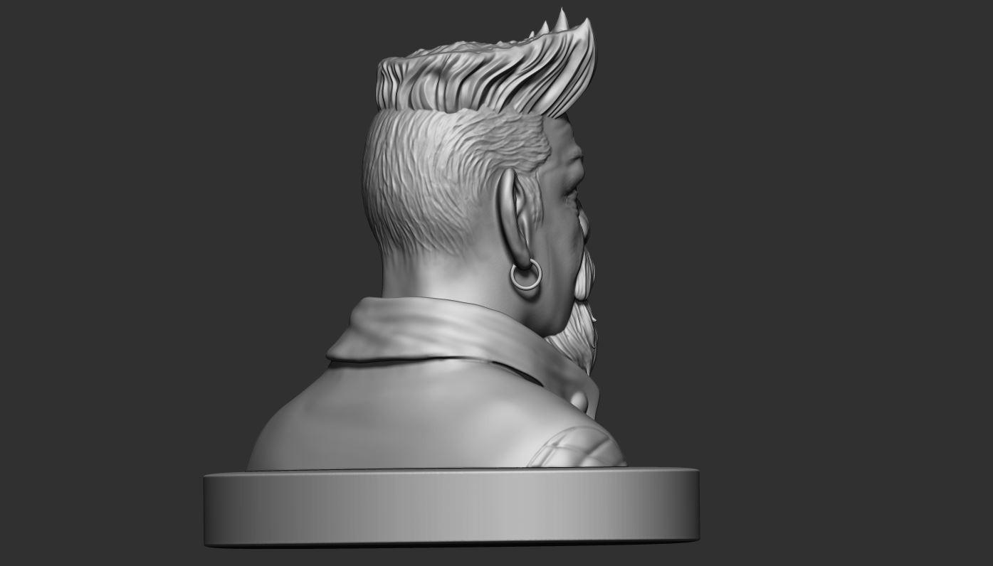5.JPG Download STL file Zombie Hunter Bust  • Template to 3D print, Bstar3Dart