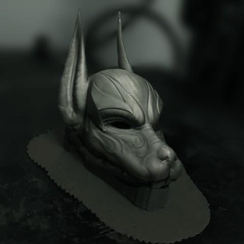 Download STL Anubis Helmet For Cosplay, Bstar3Dart