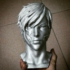 3D printing model genos bust - Onepunch man, Bstar3Dprint