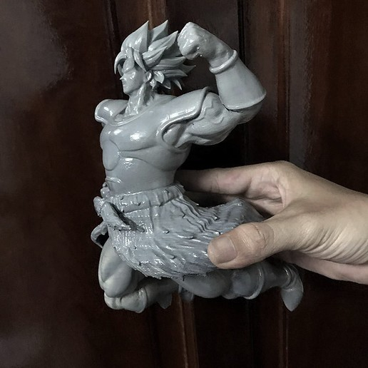Download 3D printer model Broly super Saiyan version 02 from Broly movie 2019, Bstar3Dart