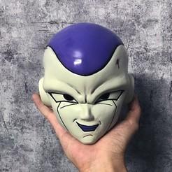 Download 3D printer designs  frieza Mask - Frieza Head - Dragon ball cosplay/Decor, Bstar3Dart