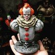 Impresiones 3D Busto Pennywise High quality - IT chapter Two - Halloween 3D print, Bstar3Dart
